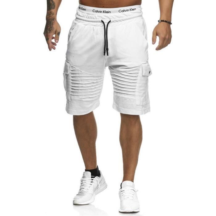 Shorts Hommes Européen Vêtement Homme Mode Légère La Casual Masculin Fit Slim Sports HE9I2WD
