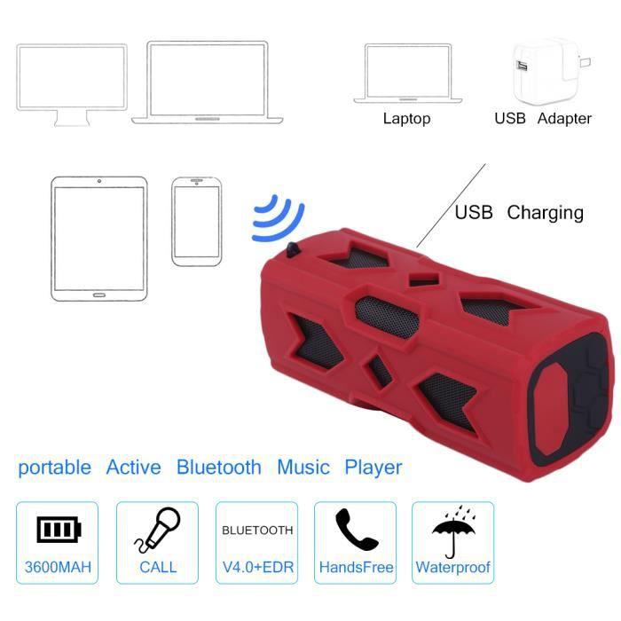 Haut-parleur Bluetooth 3d Musique Sans Fil Mobile Power Rouge