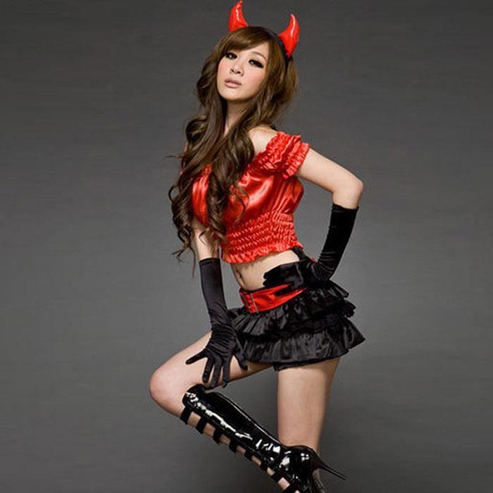 sexy costume de diable femmes trident diablesse halloween. Black Bedroom Furniture Sets. Home Design Ideas