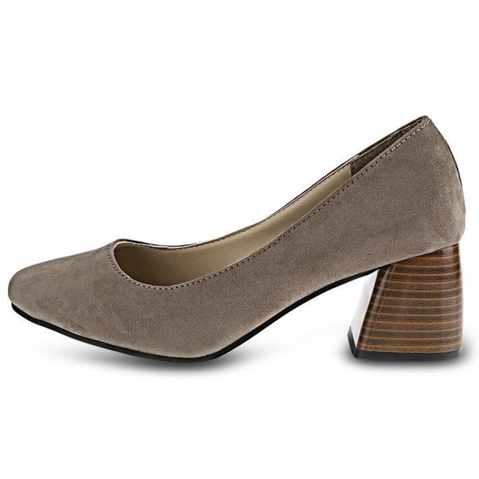 Place Casual Slip Toe sur les dames Chaussures à talons épais