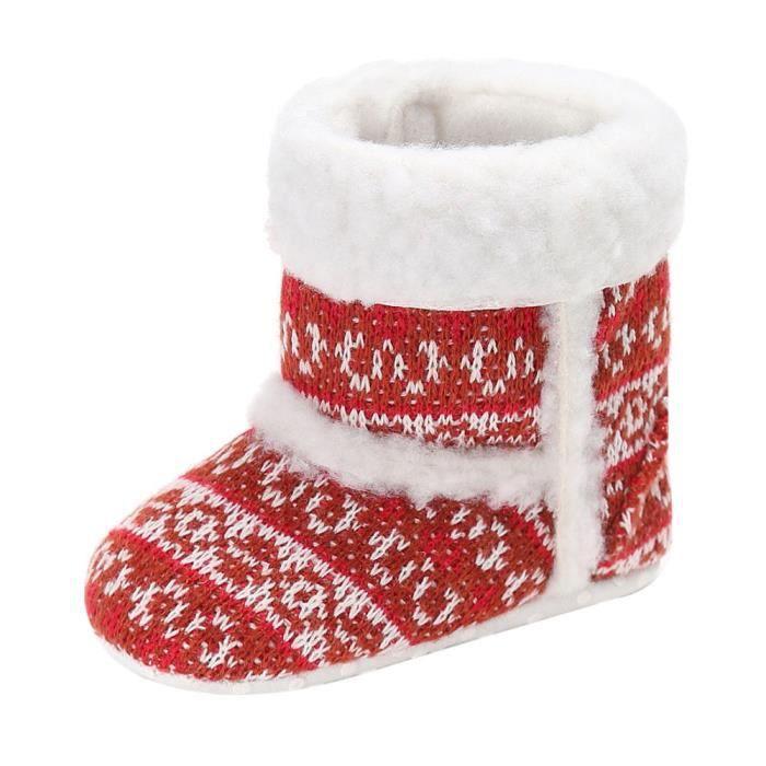 BOTTE Bébé Toddler infantile fille bottes de neige doux semelle prébalker crèche chaussures@RougeHM 4BuXlWE