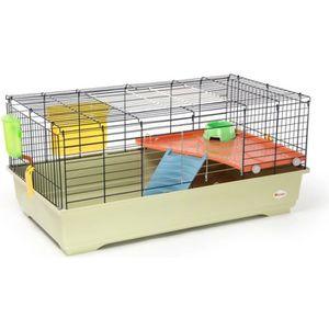 CAGE Animalis - Cage Équipée pour Lapin - 100x54,5x45cm