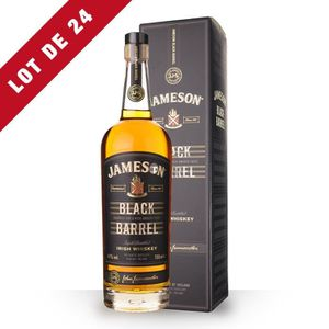 WHISKY BOURBON SCOTCH 24X Jameson Black Barrel 70cl - Etui - Whisky Iris