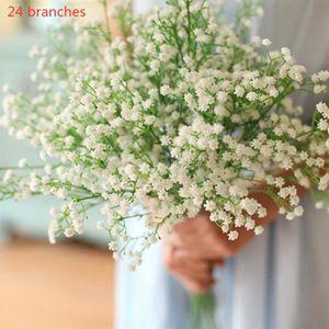 FLEUR ARTIFICIELLE 24 Branches Bouquet de fleur artificielle mariage,