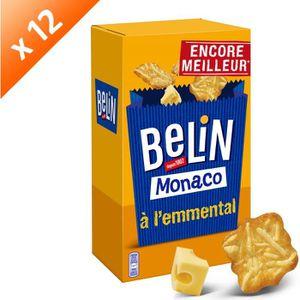 BISCUITS APÉRITIF Lot de 12 BELIN Monaco à l'emmental 50g
