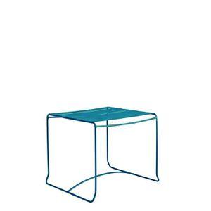 Table basse de jardin métal 50x50 Pasadena Couleur Bleu ...