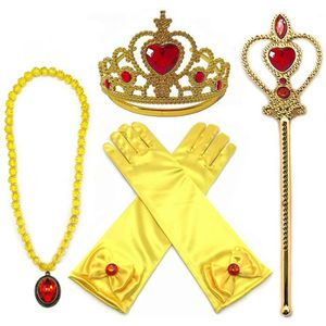 DÉGUISEMENT - PANOPLIE Princess Dress Up Belle Jaune 4 Pièces Diadème,Bag