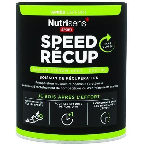 NUTRISENS Complément alimentaire - Pot de 400g pour préparation de boisson de récupération SpeedRecup - Citron/Cactus