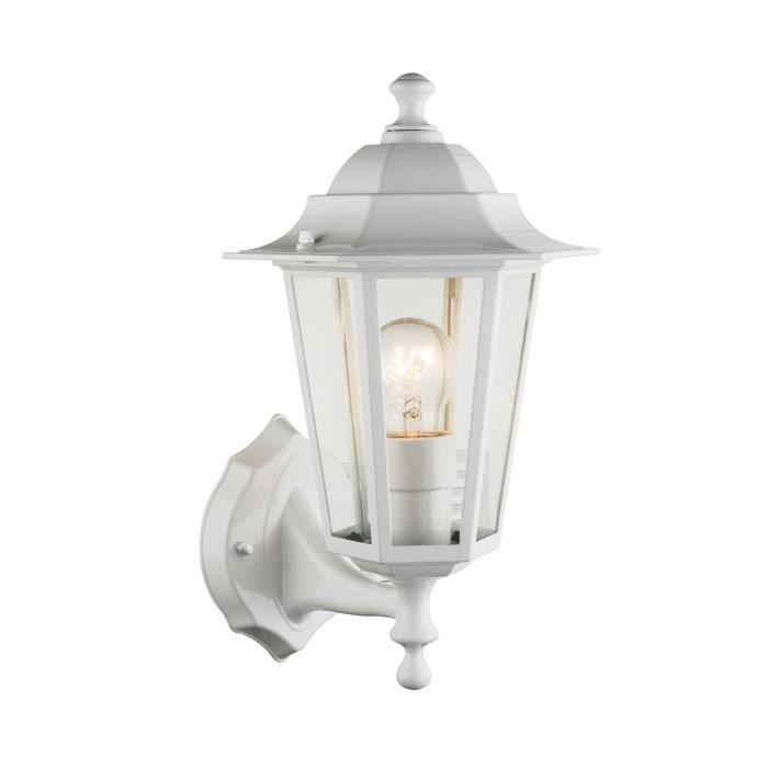 Globo Lighting Applique extérieure aluminium fonte blanc - Verre translucide - IP44LAMPADAIRE DE JARDIN - LAMPE DE JARDIN