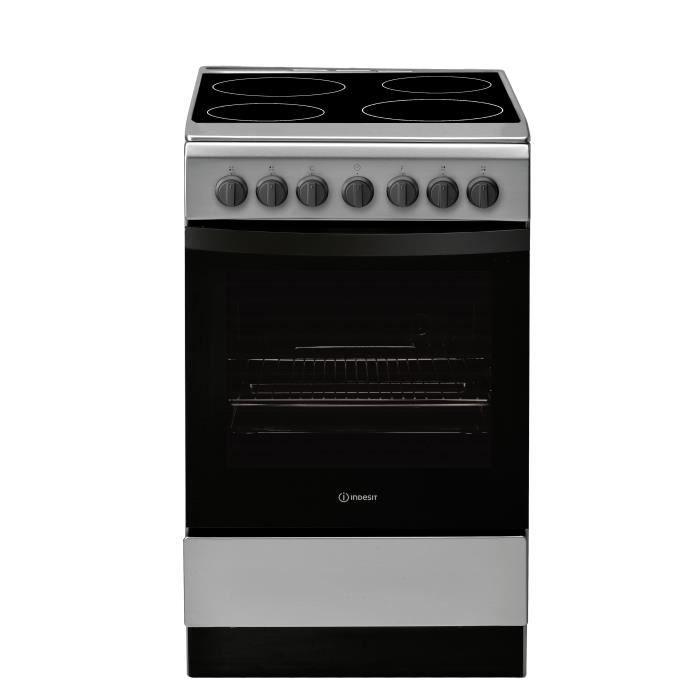 INDESIT- IS5V4PHX/EU - Cuisinière Vitrocéramique - 4 foyers - 5800W - Four Hydrolyse - 61L - A - 50x