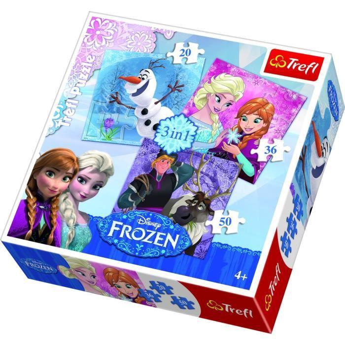 Pack de 3 ou 4 puzzles en un. Représentant des scènes cultes ou des personnages emblématiques des licencesPUZZLE