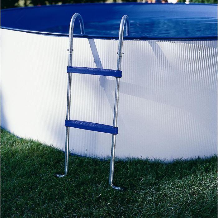 gre echelle pour piscine hors sol argent et bleu achat vente echelle de piscine gre. Black Bedroom Furniture Sets. Home Design Ideas