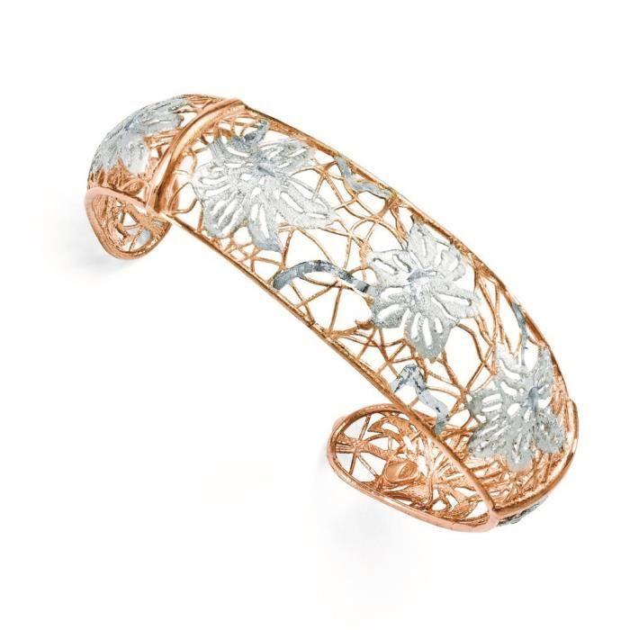 Argent 925/1000–Plaqué Or Rose-Bracelet pour