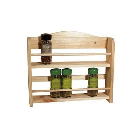 frandis etag re pices 2 tages en bois 33x25x7cm marron achat vente range ustensiles. Black Bedroom Furniture Sets. Home Design Ideas