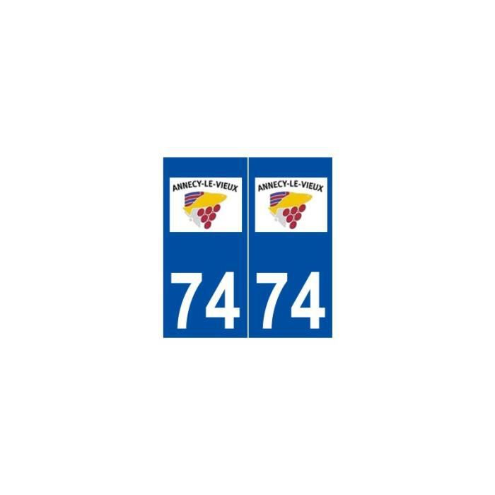 Auto, Moto – Pièces, Accessoires 2 Immatriculation 74 Haute Savoie Annecy Departement Autocollant Sticker Discounts Price