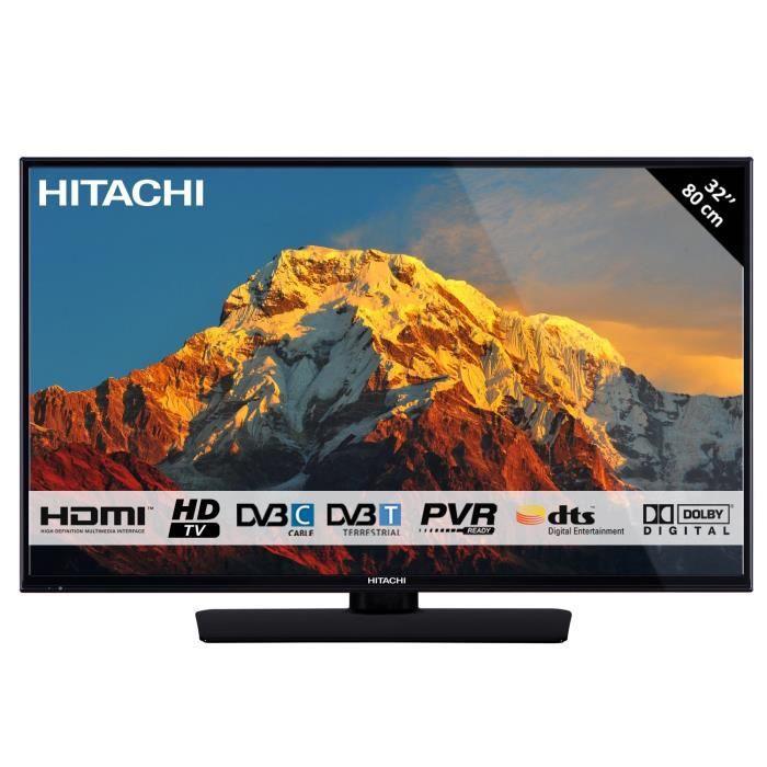 Hitachi 32HB4T01 813 Cm 32 1366 X 768 Pixels HD Direct LED DVB T C T2 Noir