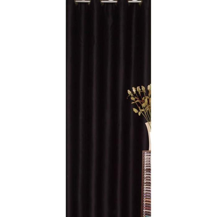 rideaux occultants noir finest rideau occultant uni satin argent with rideaux occultants noir. Black Bedroom Furniture Sets. Home Design Ideas