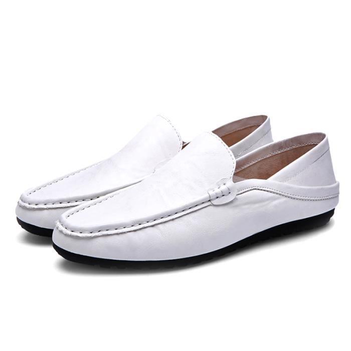 Respirant Chaussures Chaudes Luxe Designer De Bateau En Cuir Mocassins Ventes De De Chaussures Souple Homme De Marque Plat Mode UCXUw