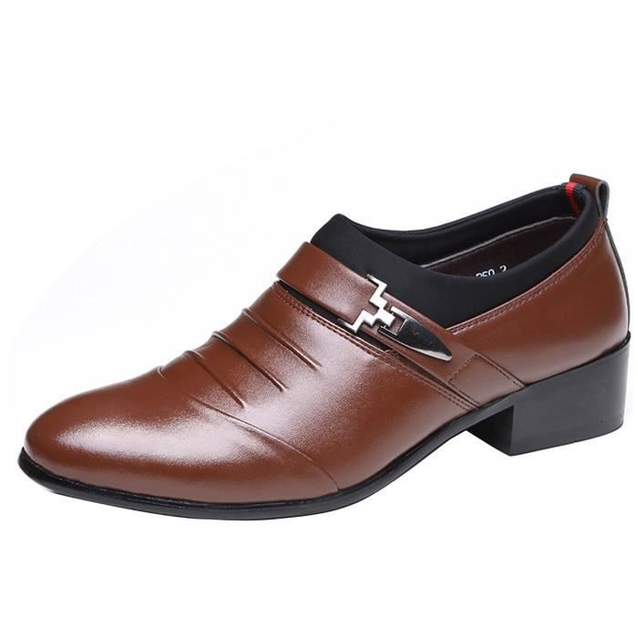 Mocassin homme Cuir Chaussures Hommes Bout Pontu Formel Business Soiree Mariage MfuizgcZT