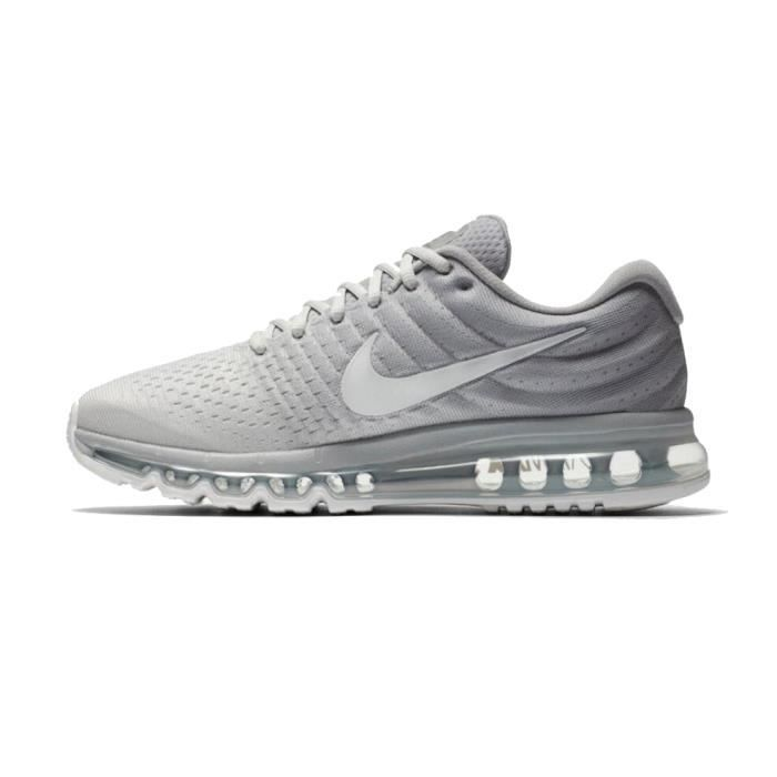 NIKE Airmax 2017 Homme Basket Running Chaussures Argent et