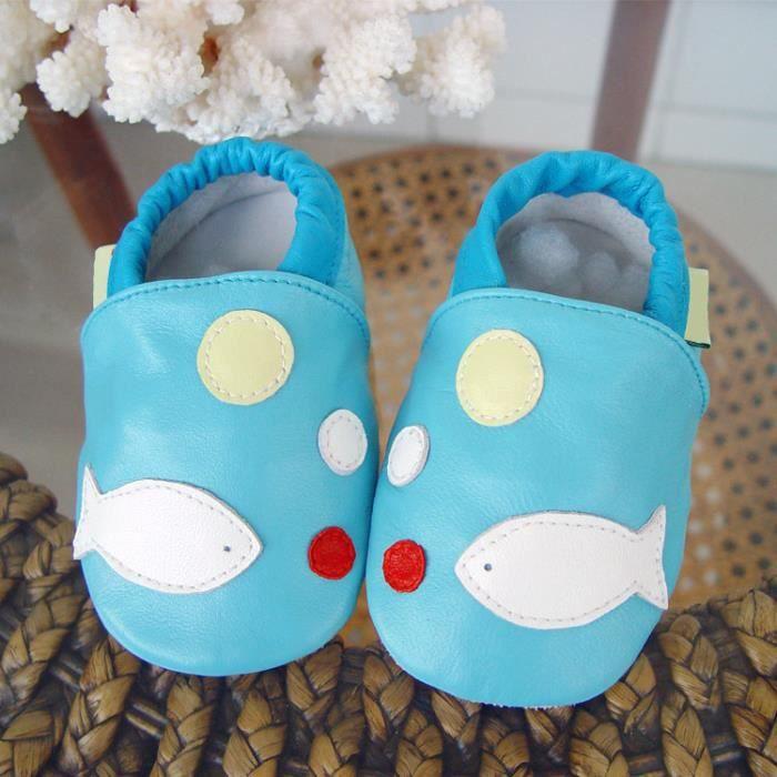 LICH Chaussures bébé en cuir anti-dérapant automne en Cuir Doux