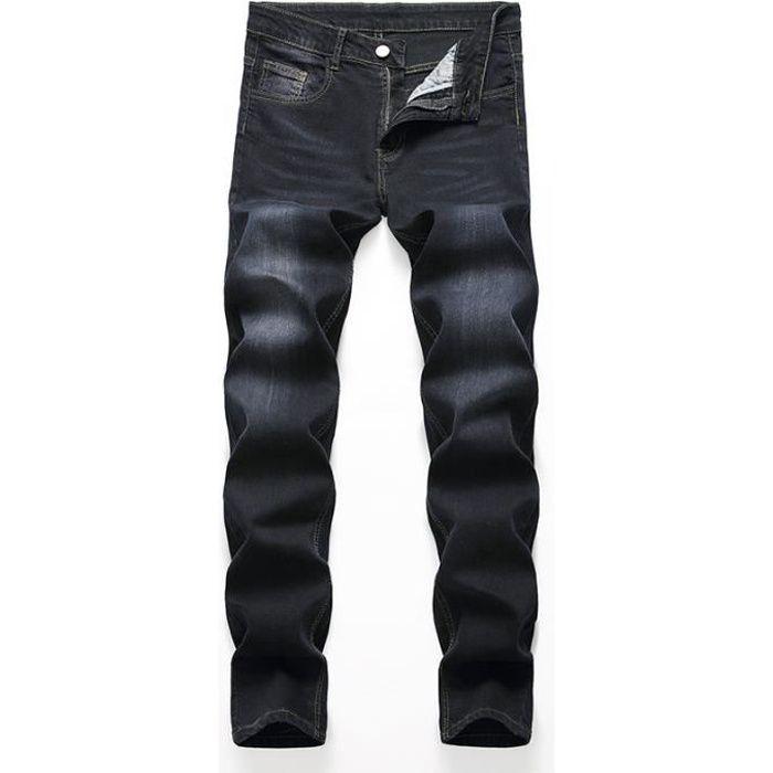 JEANS Boutique Hugo-Pantalon Jeans Homme Regular-Noir