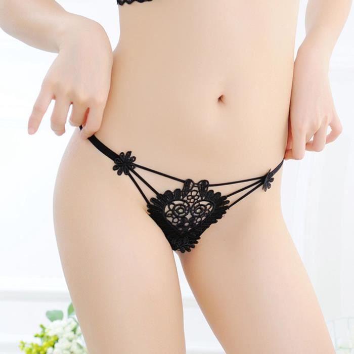 G Lingerie Sous string Culotte Slip vêtements noir Femmes Creux Thongs 7xEZ0
