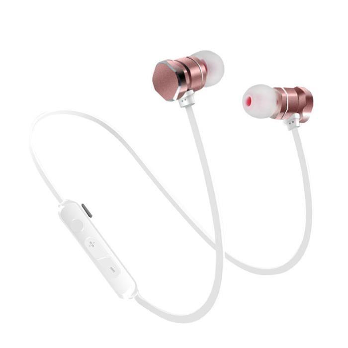 Mode Bluetooth V 4.1 Casque Sans Fil Anti-bruit Suppression Des Écouteurs Magnétiques