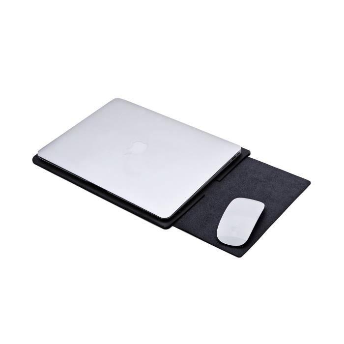 câbles De Portable Protection noir Et Sécurisés Douille Ordinateur Macbook Rangement Sac Pour Attache Tapis Souris Avec 12