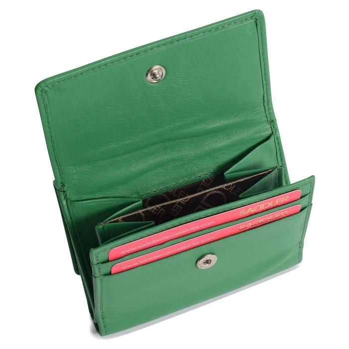 Compact 10cm Double Bourrelet Sac A Main Mini Cas De La Note De Sac A Main Portefeuilles A Trois Cotes I2W0E