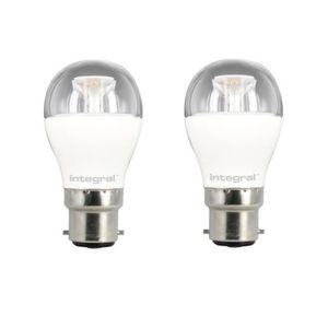 INTEGRAL LED Lot de 2 ampoules B22 6 W équivalent ? 40 W 2700 K 470 lm