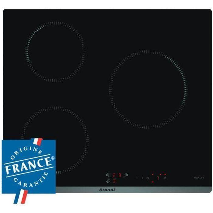 PLAQUE INDUCTION BRANDT BPI6310B - Table de cuisson induction - 3 z