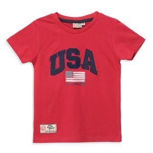 T-SHIRT CAMPS - T-shirt manches courtes - Garçon - Rouge