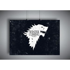 AFFICHE - POSTER Poster GAME OF THRONES WINTER IS COMING Loup blanc