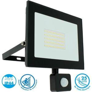 PROJECTEUR EXTÉRIEUR Projecteur LED 50W Noir détecteur de mouvement IP4
