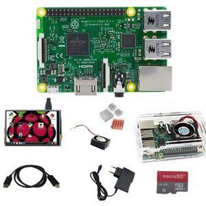 CARTE MÈRE Raspberry Pi 3 Model B+SD 16Go+HDMI vers HDMI+Boît