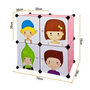 ARMOIRE DE CHAMBRE Armoire etagere de rangements modulable cubes