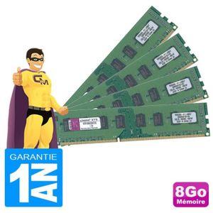 MÉMOIRE RAM 8Go Lot 4 x 2Go RAM Kingston KVR1066D3N7/2G DDR3 P