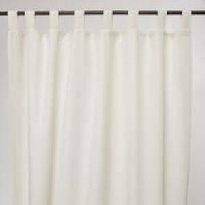Rideaux blanc coton - Achat / Vente pas cher