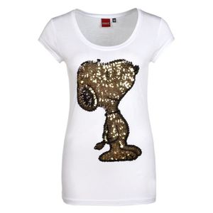 T-SHIRT Sublevel Women's T-shirt With Snoopy In Sequins  