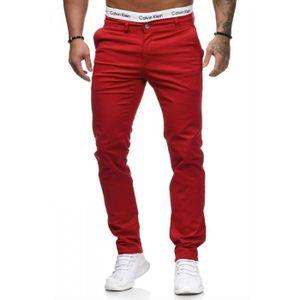 Pantalon rouge homme - Achat   Vente Pantalon rouge Homme pas cher ... 7a59a80b65b0