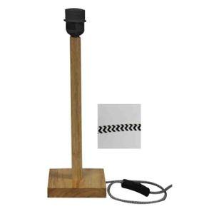 Pied De Lampe En Bois Gabriel H 38cm Achat Vente Pied De Lampe