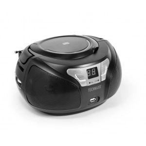 BALADEUR CD - CASSETTE Technaxx BT-X38, 85 dB, 10%, 2x 1W, 88 - 108 MHz,