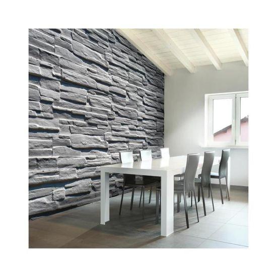 Papier Peint Mur De Pierre Grise - Dimension - 300x231. - Achat ...