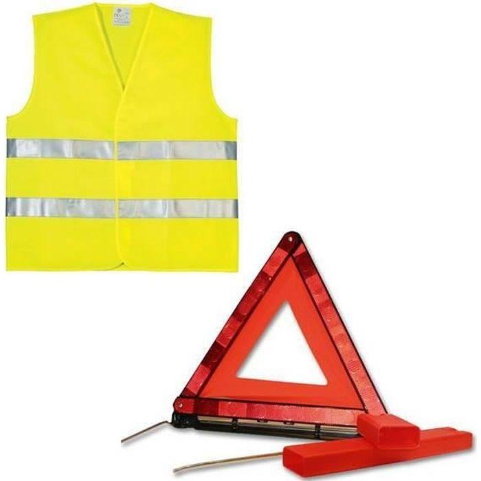PLANET LINE Kit gilet PL7248 + triangle de signalisation