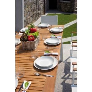 Table de jardin extensible en teck et aluminium… - Achat / Vente ...