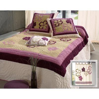 couvre lit becquet boutis BOUTIS 250x250cm BECQUET   Achat / Vente jetée de lit   boutis  couvre lit becquet boutis