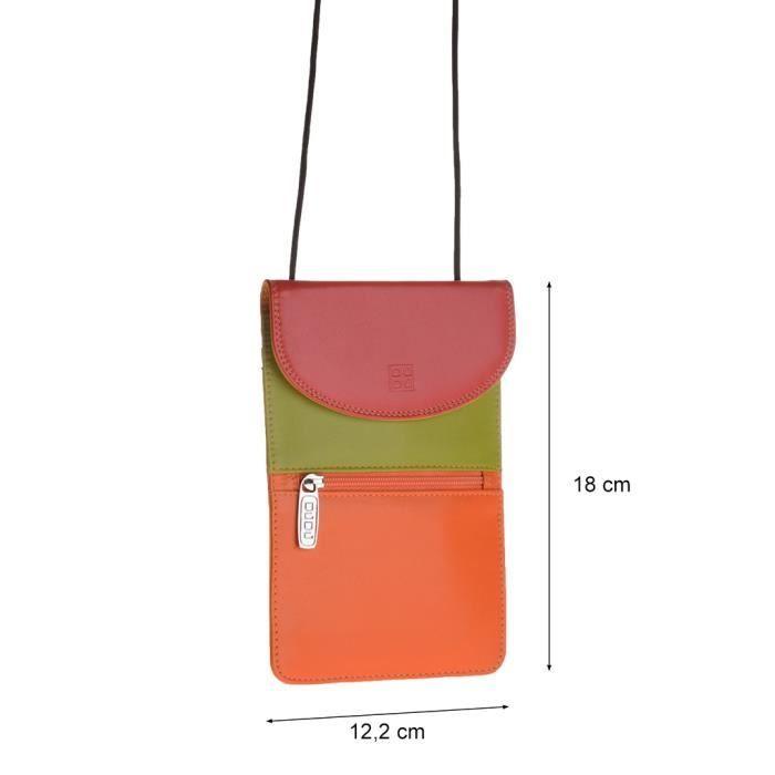 Dudu - Sac porté épaule en cuir - Colorful Coll...
