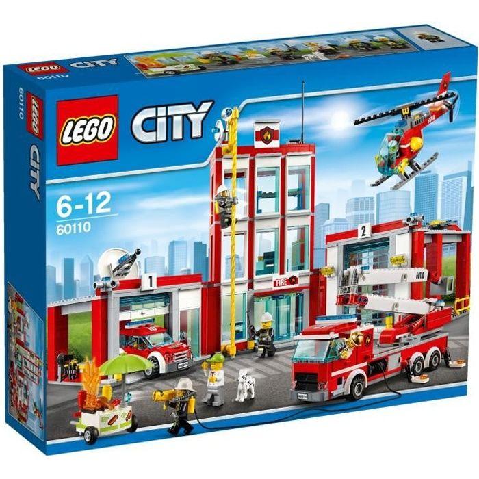 ASSEMBLAGE CONSTRUCTION LEGO® City 60110 La Caserne des Pompiers
