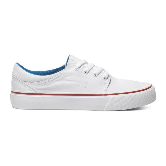 Chaussures Femme DC TRASE TX white blue red